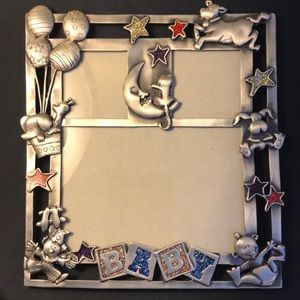 Pewter Baby Photo Frame